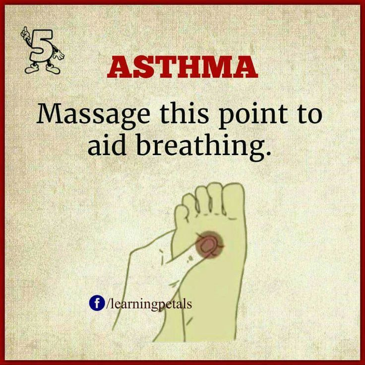 Massage a point in the foot to aid breathing | Asthma help