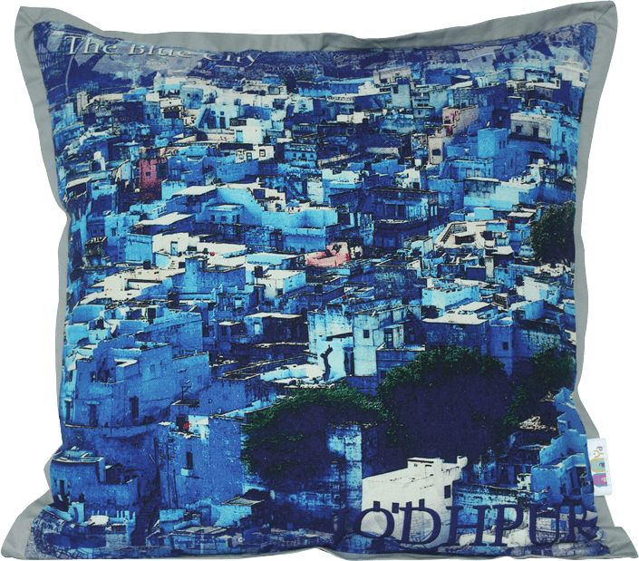 Rajasthan is popular for the magnificent architecture of itsamazing forts, stupendous palaces and  rich culture heritage. Each city of Rajasthan is having a nickname due to its distinctive style of architecture, art  and rich culture traditions. Our collection of digital printed cushion cover is inspired from the nickname of these cities. Decor your living room with these beautiful cushion covers and add a taste of rich Rajasthani art & culture to your home. Made from 100% cotton duck fab...