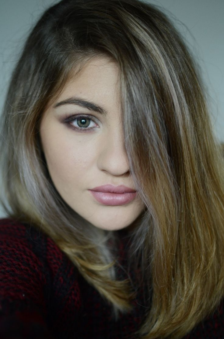 about my blonde hair and grey contacts