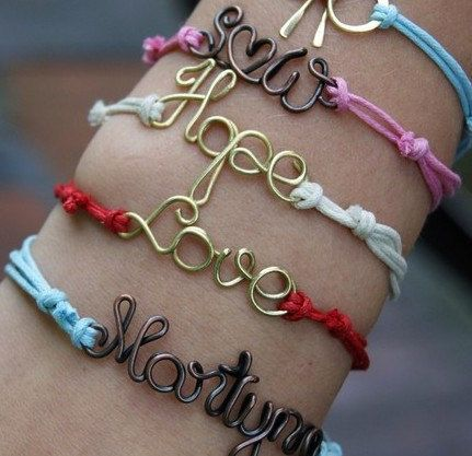Personalized Wire Name Bracelet Personalized String Von