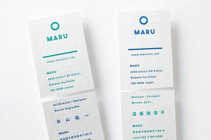 Unique Business Card, Maru #BusinessCards #Design (http://www.pinterest.com/aldenchong/)