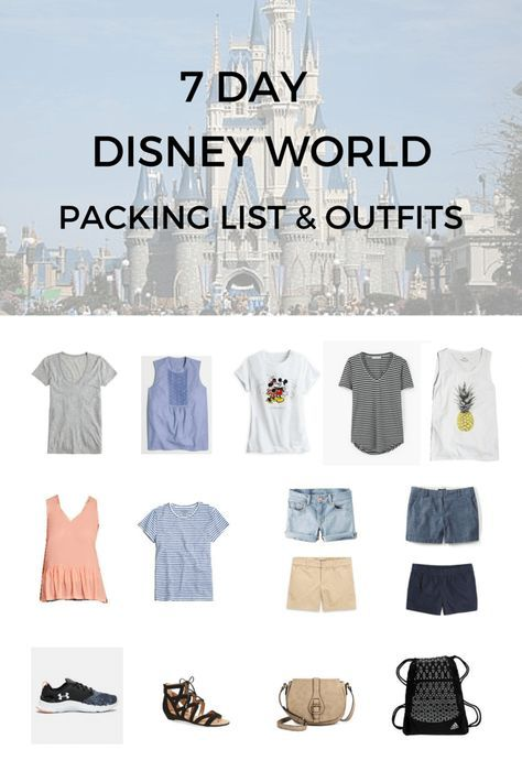 Disney World 7-Day Packing Guide + Outfits