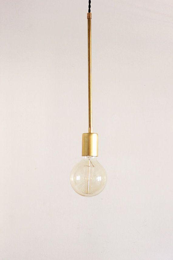 Brass Hanging Light, Vintage Modern Industrial Pendant Light - Globe @ http://lightingworldbay.com #lighting