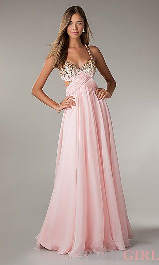 Long Prom Dress with Cut Out Sides by Flirt at http://www.promgirl.com/shop/dresses/viewitem-PD1170643