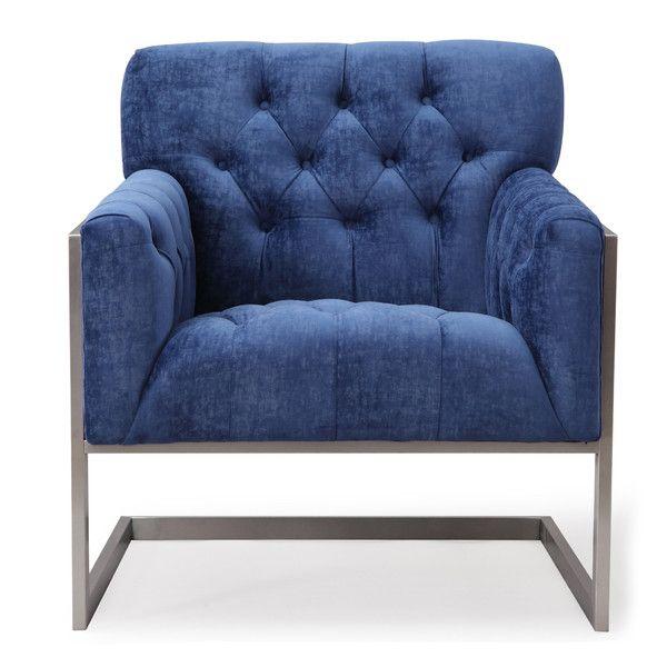 mercer41 payton velvet arm chair