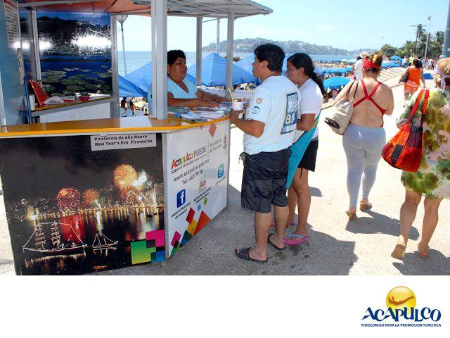 #infoacapulco Módulos de información para turistas en Acapulco. INFORMACIÓN SOBRE ACAPULCO. En múltiples puntos de Acapulco, se ubican módulos de atención en los que se brinda información variada para el turismo. Sitios de interés histórico o cultural, eventos, conciertos, playas, distancias, medios de transporte, ¡en fin!, todos los datos necesarios para pasar unas grandiosas vacaciones en Acapulco. www.fidetur.guerrero.gob.mx