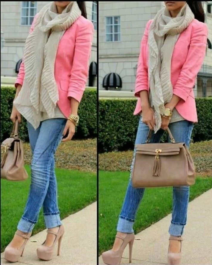 Cute fall date outfit- tailored colorful blazer