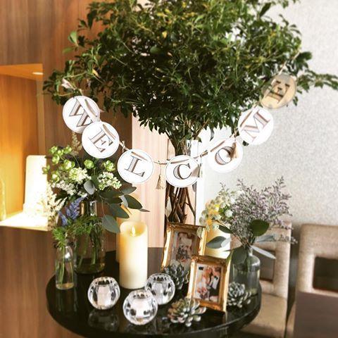 ウェルカムツリー♡  #アルモニーサンク #アルモニーサンクウエディングホテル #結婚式 #結婚式場 #HARMONIECINQ #受付 #受付グッズ #ウェルカムツリー #ナチュラル #キャンドル #ガーランド #プレ花嫁