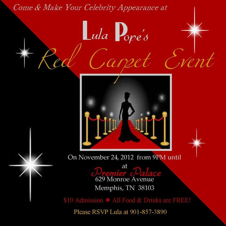 17 best images about Hollywood party – Red Carpet Party Invitation