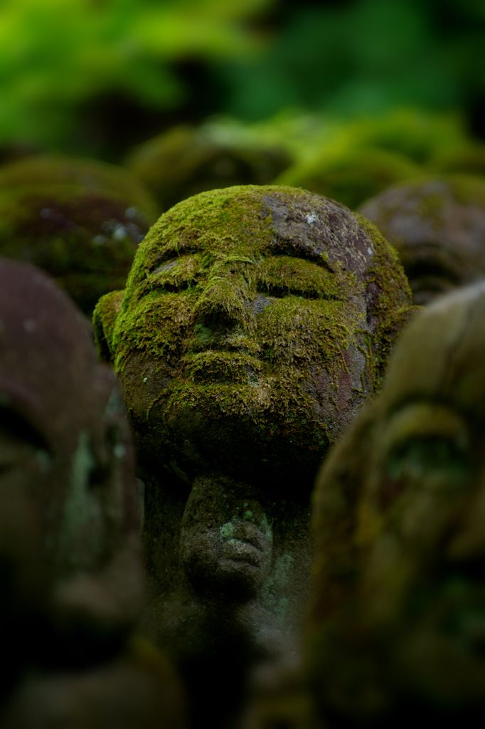 Jizo statues at Otagi Nenbutsu-ji temple, Kyoto, Japan  愛宕念仏寺(おたぎねんぶつじ) 嵯峨野