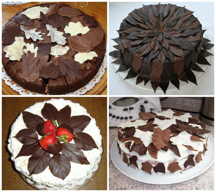 Фото украшаем торт шоколадом