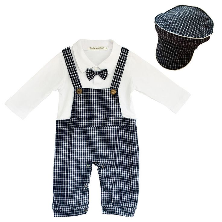 Formal romper suit with hat in blue, £19.99