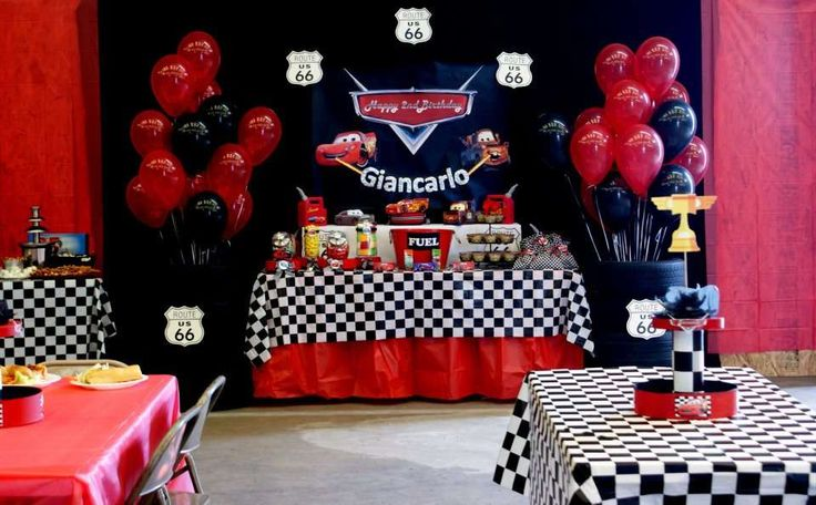 CARS 2 Birthday Party Ideas | Photo 3 of 11 | Catch My Party