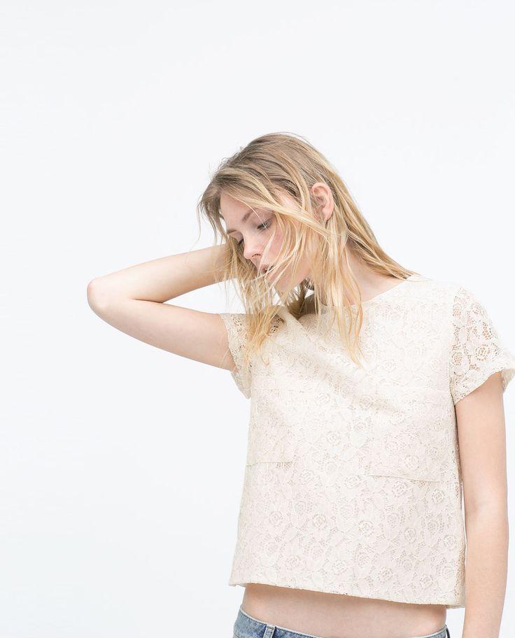 ZARA   WOMAN - Lace Top