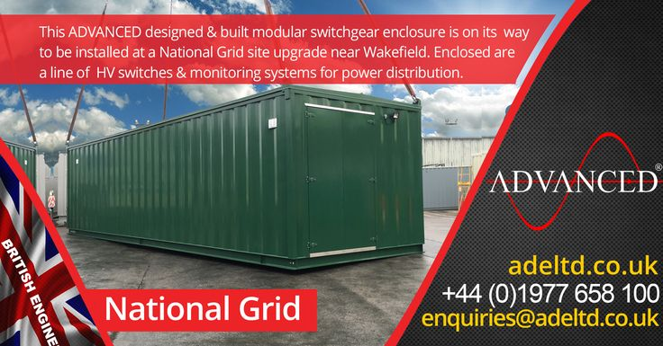 This ADVANCED designed & built modular #switchgear enclosure is on its way to be installed at a #National Grid site upgrade near #Wakefield. Enclosed are a line of  HV switches & monitoring systems for #power distribution.  Visit  for the best prices in the UK for  Diesel #Generators & Modular Equipment Housing