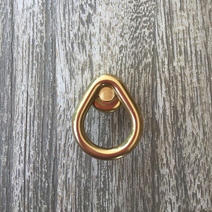 Loop Brass Cabinet Knob - Drawer Knob - Brass Drawer Pull - Cabinet Knob