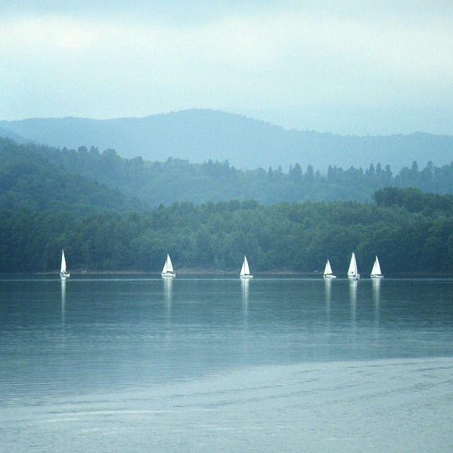 Solina reservoir in Bieszczady, Poland.