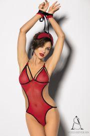Body Mi-Ange Mi-Démon - Angels Never Sin. Du rouge associé au noir, un côté face plutôt sage et un côté pile carrément torride, voilà de quoi faire apprécier à votre partenaire une petite incursion dans le monde des anges et des démons !!!! Sur www.sensuality-lingerie.fr