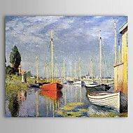 Famous Oil Painting A Yacht at Argenteuil by Clau... – AUD $ 97.59