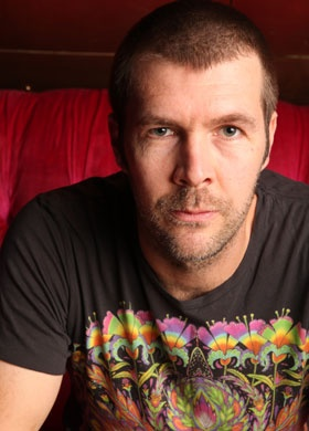Rhod Gilbert in what is apparently his favorite shirt.