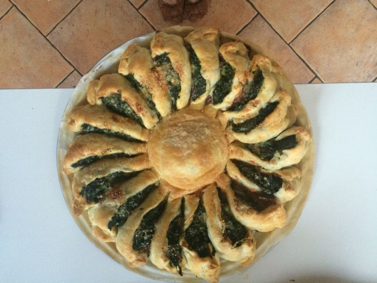 Torta salata di spinaci e pancetta - Quiche with spinach and bacon