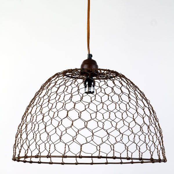 Chicken Wire Basket Pendant Lamp