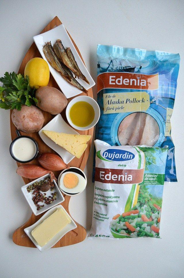 Ingrediente placinta cu peste Edenia Savori Urbane (1)