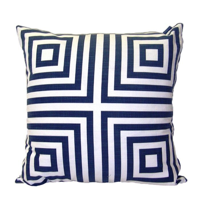 Lula Fabrics   Clarke Gable Indigo Cushion   Homeware   5rooms.com