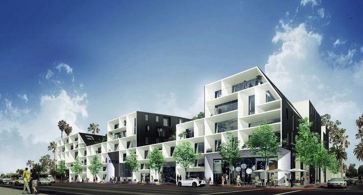 """A Massive new development, located on a 1.3-acre site at 11800 W. Santa Monica Boulevard west of Granville avenue, is rising from the former site of the Buerge Ford dealership. The structure is slated to birth a five-story complex containing apartments above approximately 40,000 square feet of ground-level commercial space. Another changing times for the """"old"""" West Los Angeles."""