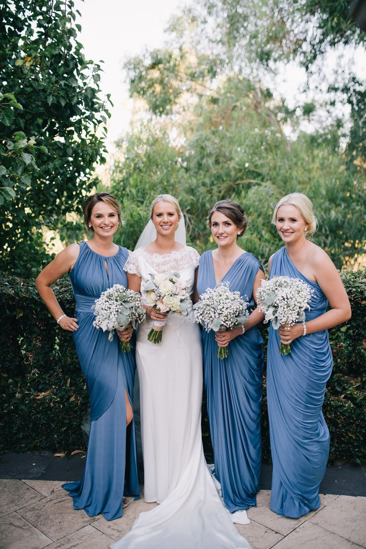 366 best images on pinterest wedding bridesmaids our gorgeous couple amanda and aaron tied the knot in february amandas bridesmaids looked stunning in our kylie ingrid and sienna dress in steel blue ombrellifo Image collections