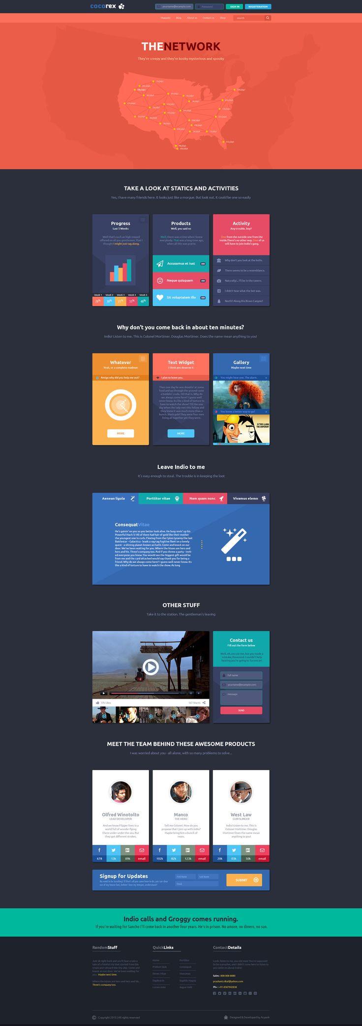 808 best web sites template images on Pinterest | Design websites ...