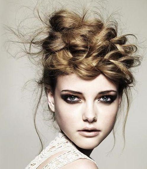Gorgeous crown braid by Ken Picton; Photog: Jack Eames of the U.K. #hotonbeauty hotonbeauty.com