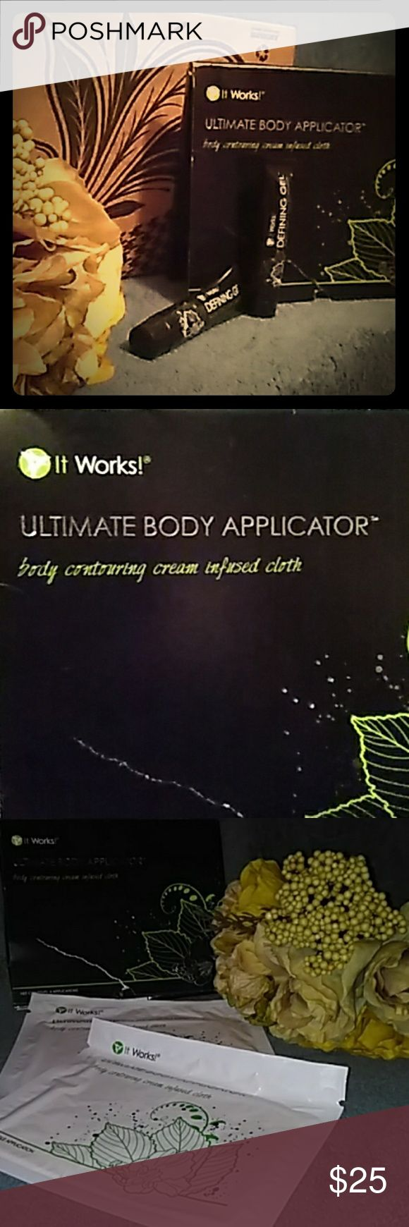 Ultimate Body Applicator ( itworks ) Tighten, tone and firm the appearance of your skin whatever you need it the most as little as 45 minutes with Progressive results over 72 hours Itworks Other