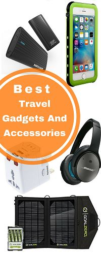 Best Travel Gadgets And Accessories Traveling is a source of great pleasure and when you have the right gadgets with you, it's even more enjoyable.