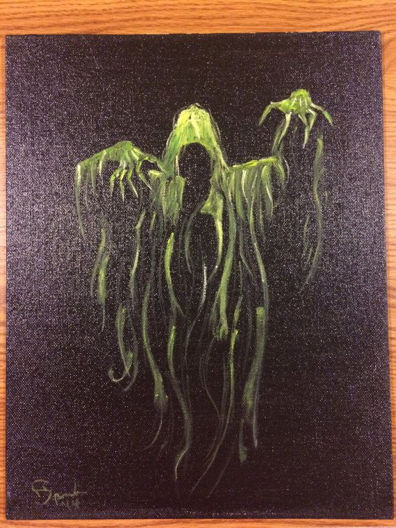 A Oil Painting On Canvas Board Creepy Depiction Of The Grim Reaper GREAT For Halloween Time
