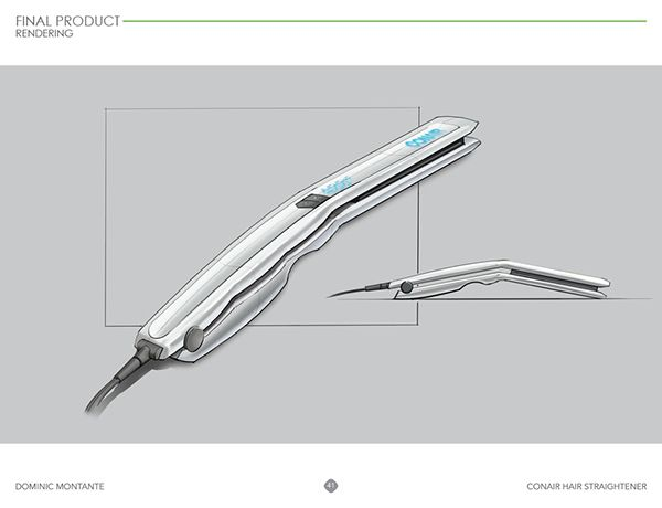 Conair Ergonomic Hair Straightener on Behance