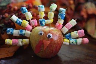 Apple Turkey Art Project