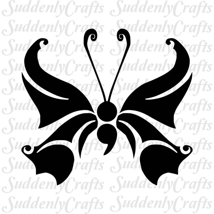 Butterfly Semicolon Svg By Suddenlycrafts On Etsy Vinyl