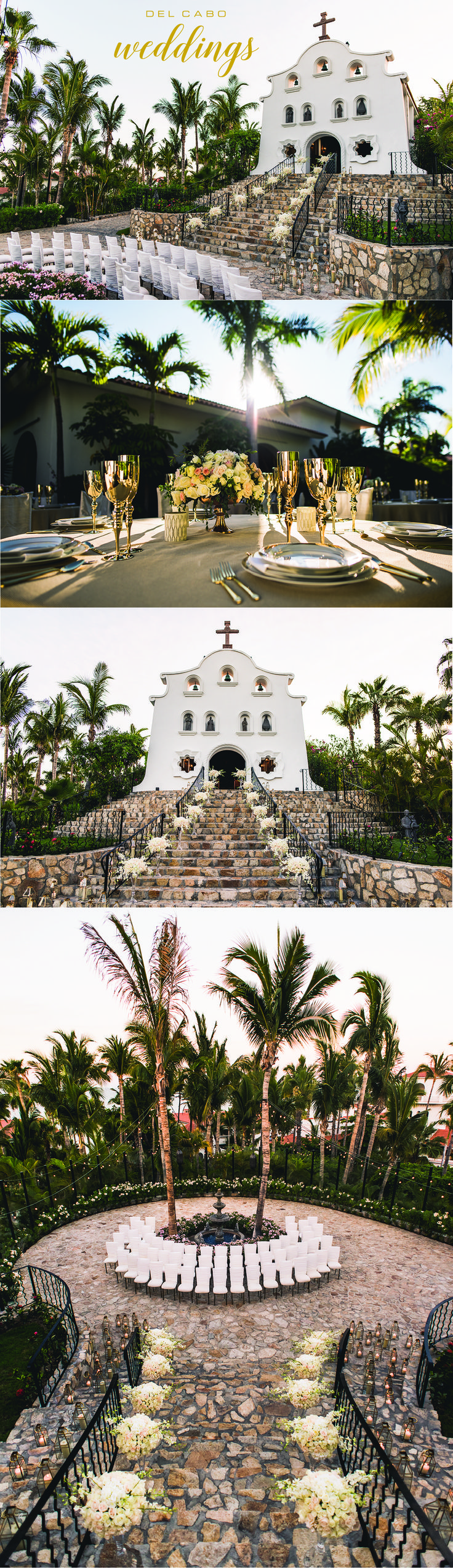Beautiful wedding ceremonies in Los Cabos! Our metallic theme will blow your mind! Check out our board for more inspiration!