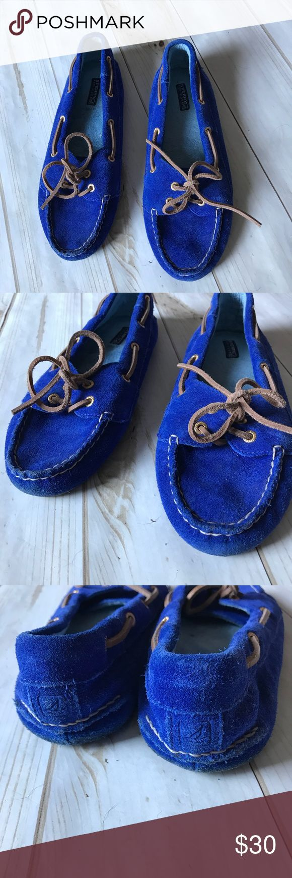 Sperry Slippers Super cute and comfortable blue suede slipper with hard bottoms. Soft on the inside and super clean Sperry Top-Sider Shoes Slippers