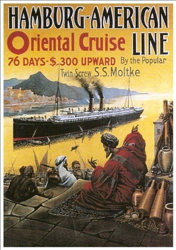 Fantastic A4 Glossy Print - 'Hamburg-American Line - Oriental Cruise' - Taken From A Rare Vintage Travel Poster (Vintage Travel / Transport Posters) by Unknown http://www.amazon.co.uk/dp/B005WRXUX0/ref=cm_sw_r_pi_dp_E5Fovb1BC3AK1