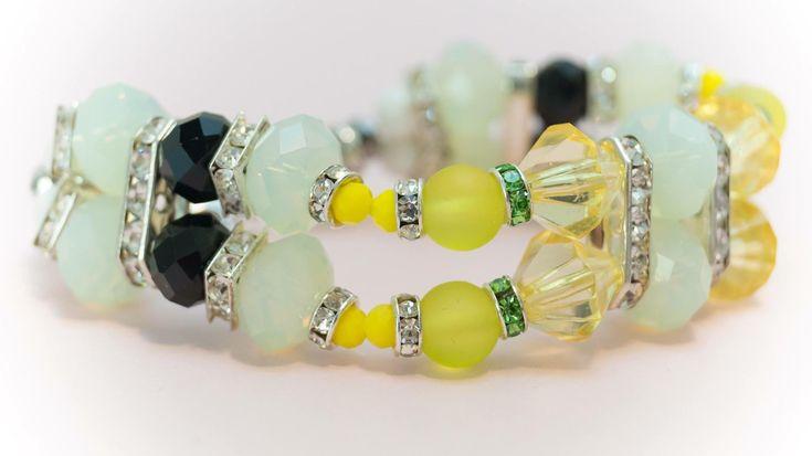 Excited to share the latest addition to my #etsy shop: Bracelet 14 http://etsy.me/2CqDcSf #jewelry #bracelet #yellow #white #no #women #womanbracelet #handmadebracelet #fashionbracelet