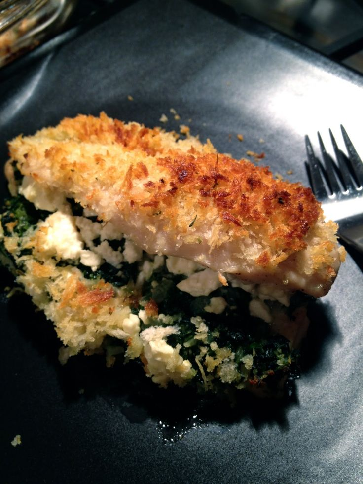 Baked Greek Style Chicken with Spinach and Feta