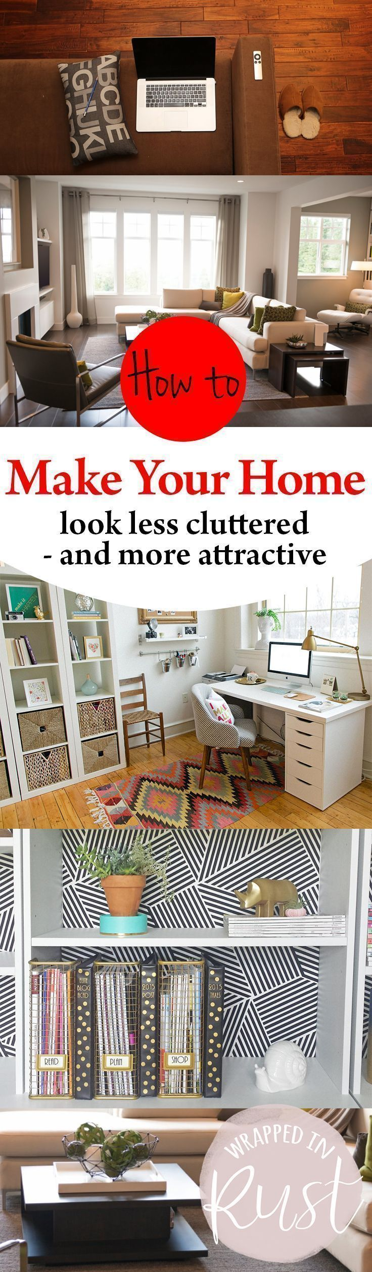 How to Make Your Home Look Less Cluttered — and More Attractive! How to Declutter Your Home, Fast Ways to Declutter Your Home, Home Organization, Organization Tips and Tricks, Fast Ways to Declutter Your Home, Home Declutter Tips and Tricks..Call today or stop by for a tour of our facility! Indoor Units Available! Ideal for Outdoor gear, Furniture, Antiques, Collectibles, etc. 505-275-2825 #tipstodeclutteryourhome