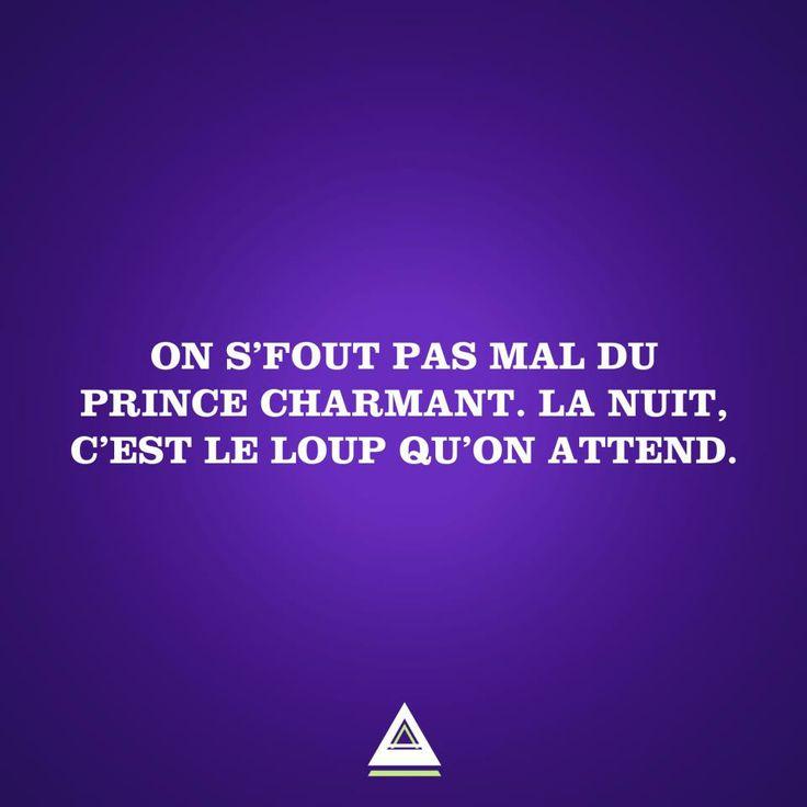 on s'fout du prince charmant. la nuit c'est le loup qu'on attend. #LesCartons