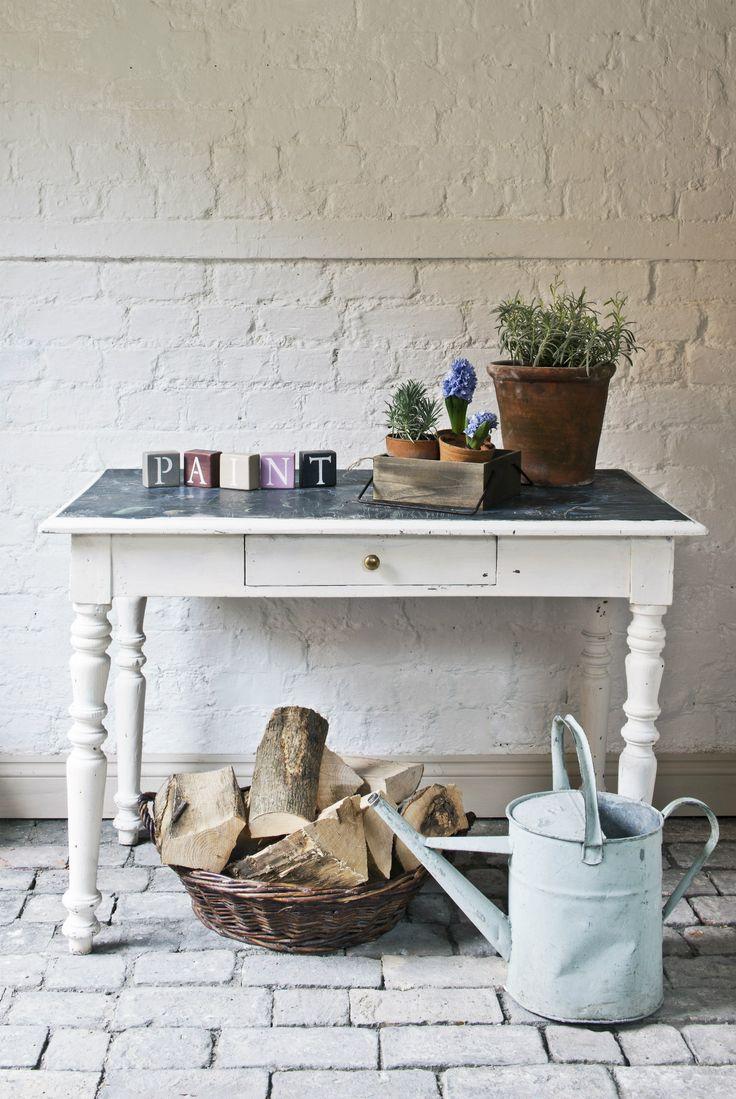 Mejores 16 im genes de muebles pintados en pinterest - Mesas pintadas a la tiza ...