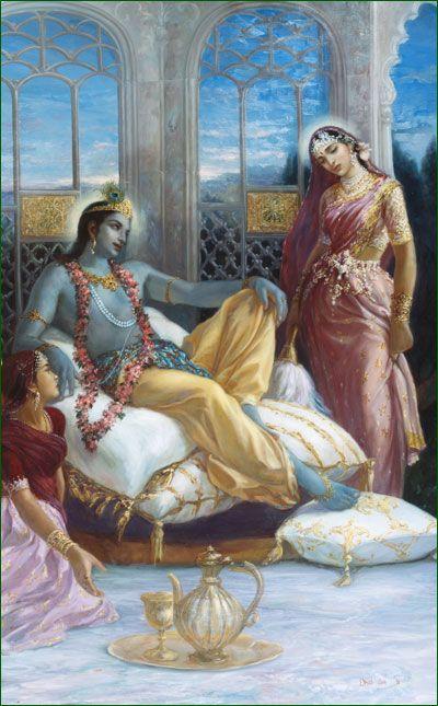 Talks Between Kṛṣṇa and Rukmiṇī