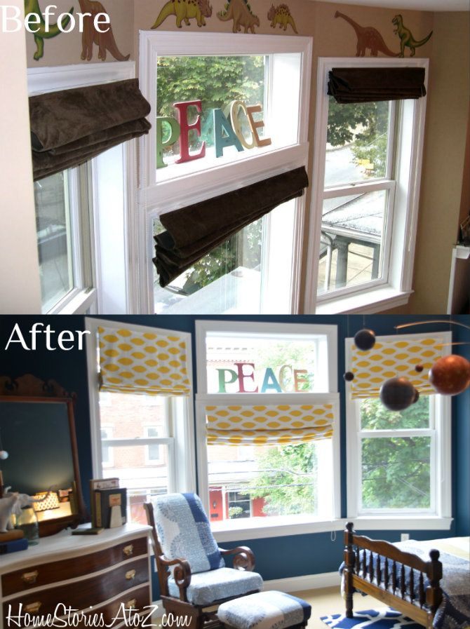 how to recover roman shades nosew