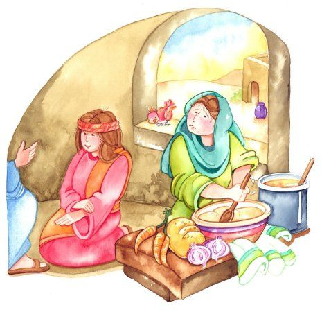 to give our lord a perfect hospitality mary and martha must combine the attention of mary and the diligent work of martha
