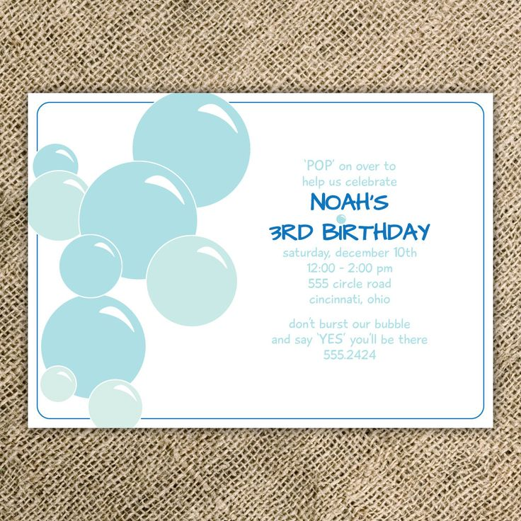 17 best ideas about Bubble Birthday Parties – Bubble Invitations Birthday